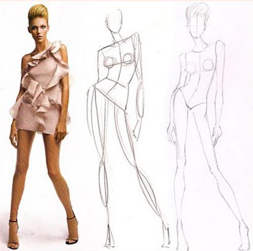 500x495 Fashion Sketches Body Shapes Fashion Sketch