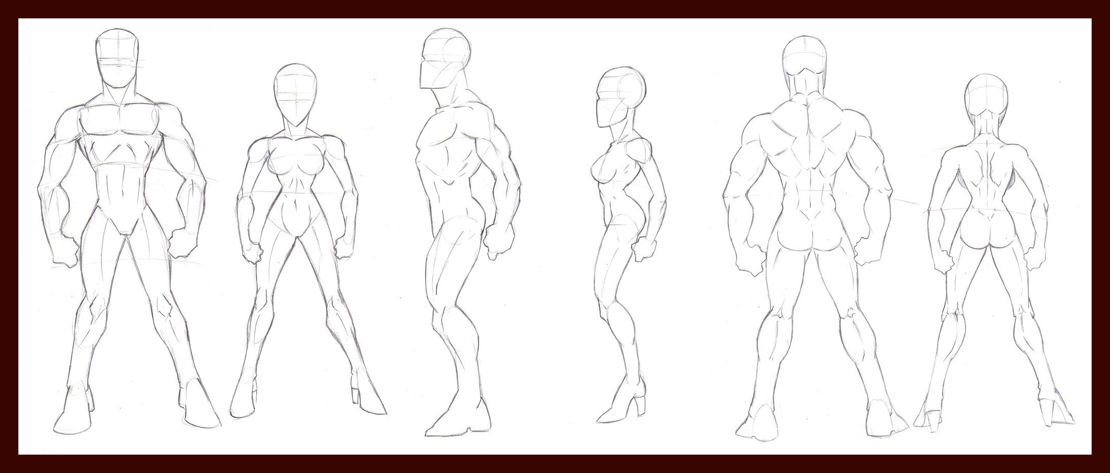 2175x927 Human Figure Breakdowns By Dawnbest Drawing Reference