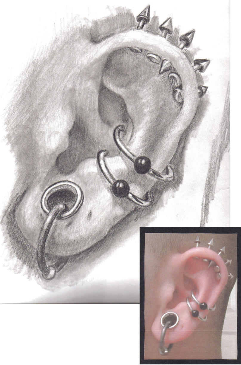 Human Ear Drawing At Getdrawings Free For Personal Use Human
