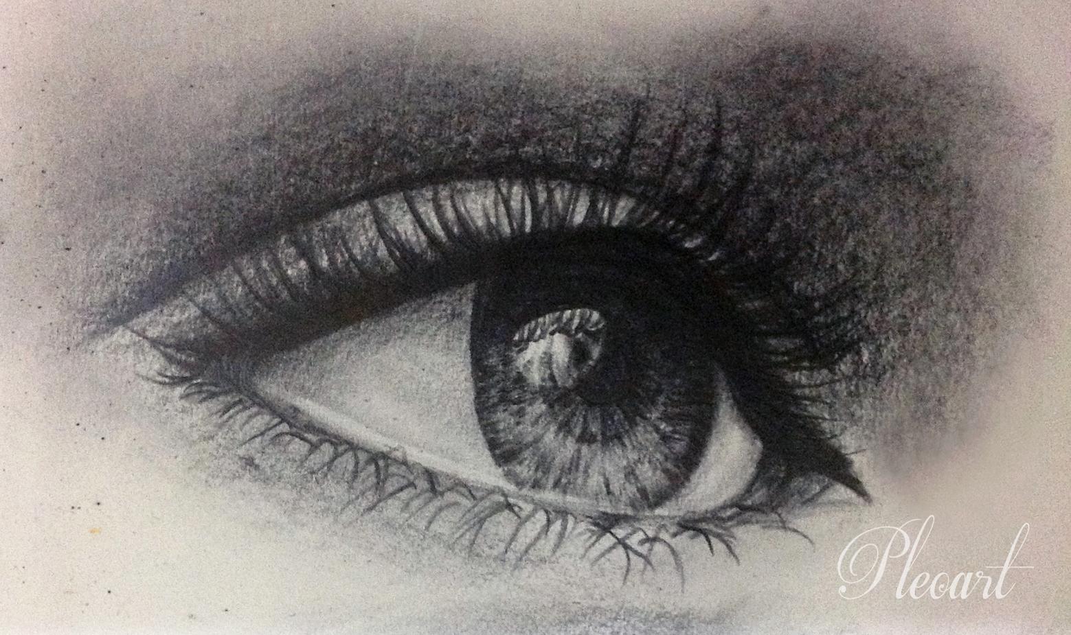 1559x925 Human Eyes Drawing Pleoart