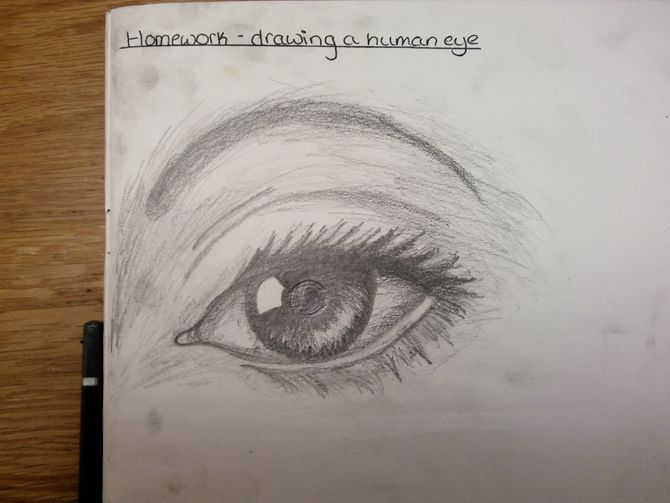 670x503 How To Draw Human Eyes 9 Steps (With Pictures)
