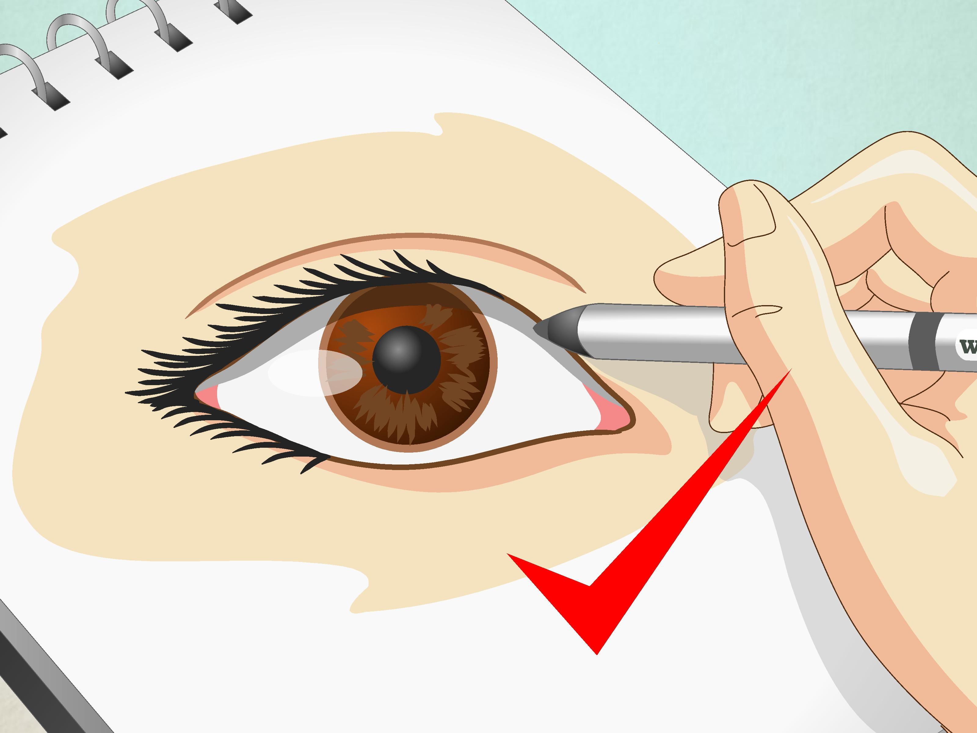 3200x2400 How To Draw Human Eyes 9 Steps (With Pictures)