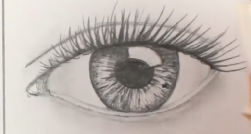 512x274 How To Draw Realistic Human Eyes 7 Steps (With Pictures)