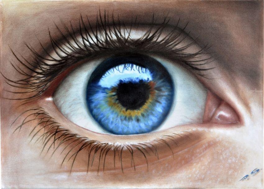 850x609 Human Eye, In 3d, Painted By Stefan Pabst Artist Stefan