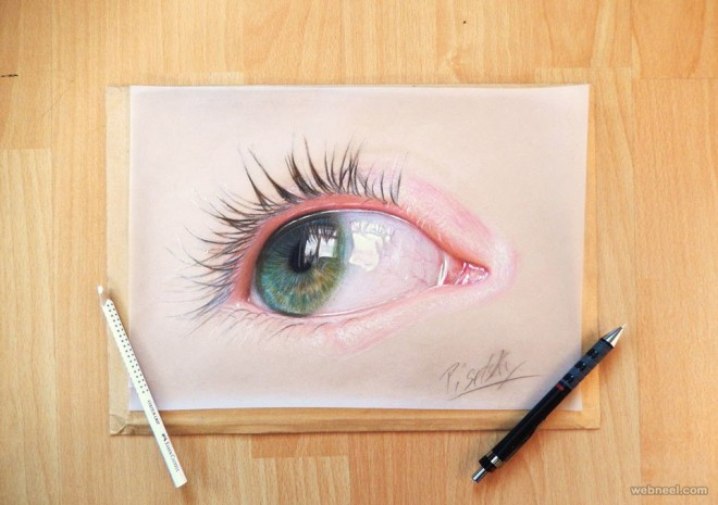 660x465 Human Eye Pencil Drawing By Andrew Pisetsky 1
