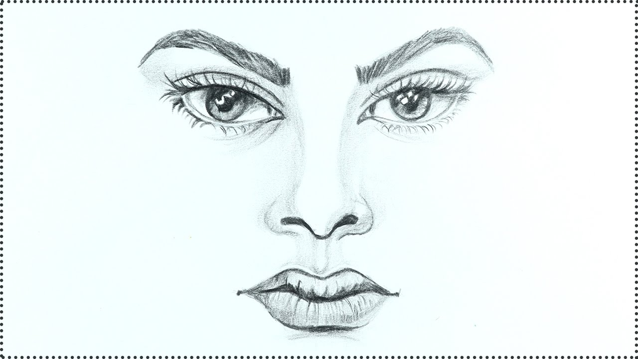 1280x720 How To Draw A Face Human Face Drawing Tutorial Step By Step