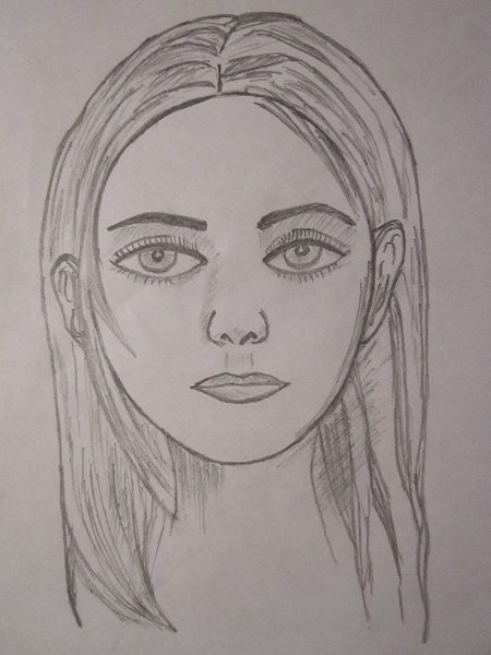 450x600 human faces sketches