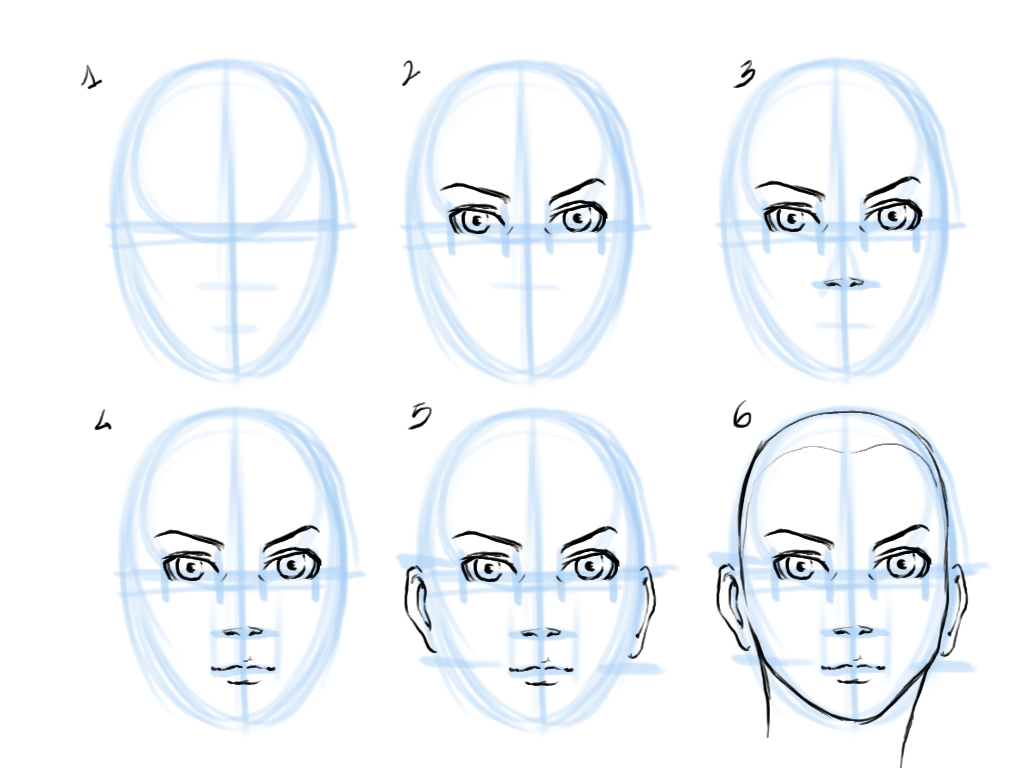 1024x768 Sketch Face Tutorial Human Face Drawing For Beginner Sketch Face