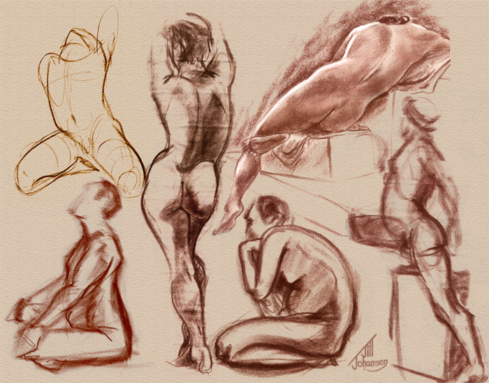 700x548 Figure Drawing Collage By Jilljohansen