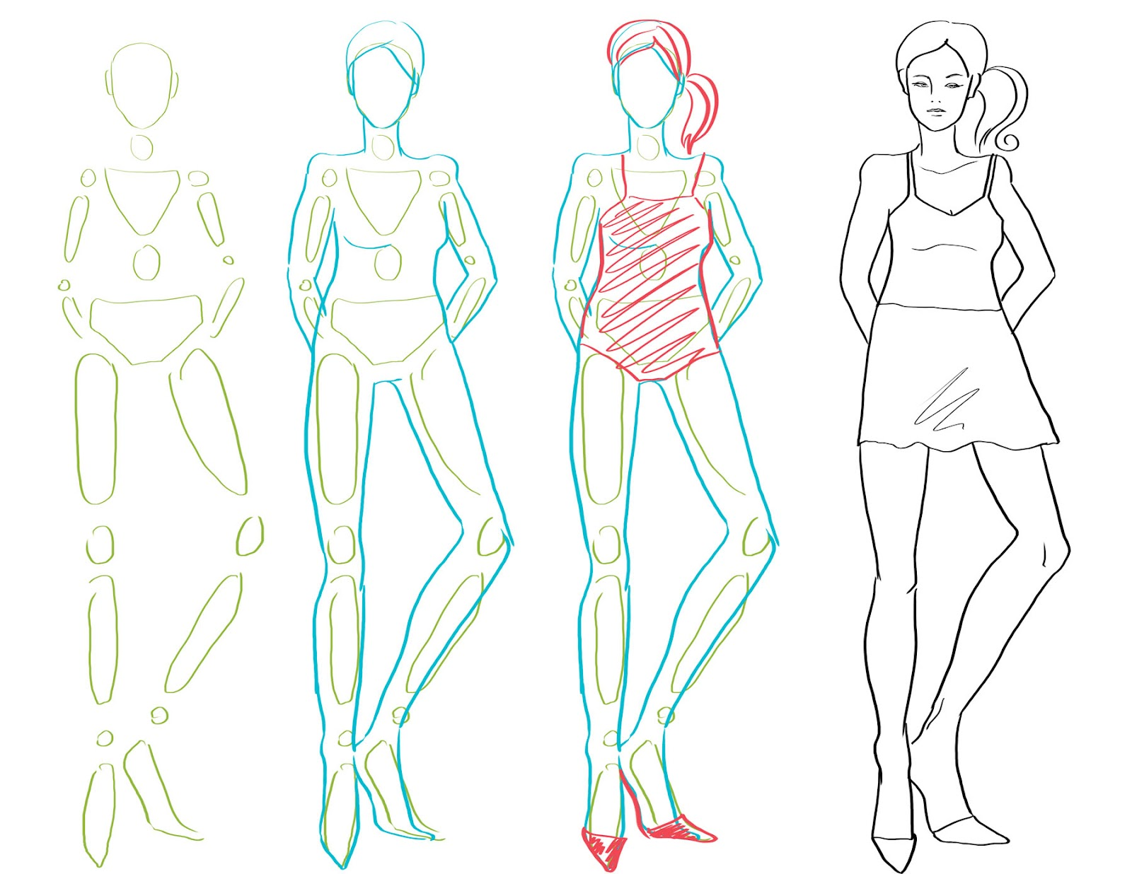 1600x1236 How To Draw Fashion Figures In Simple Steps Look What Simple