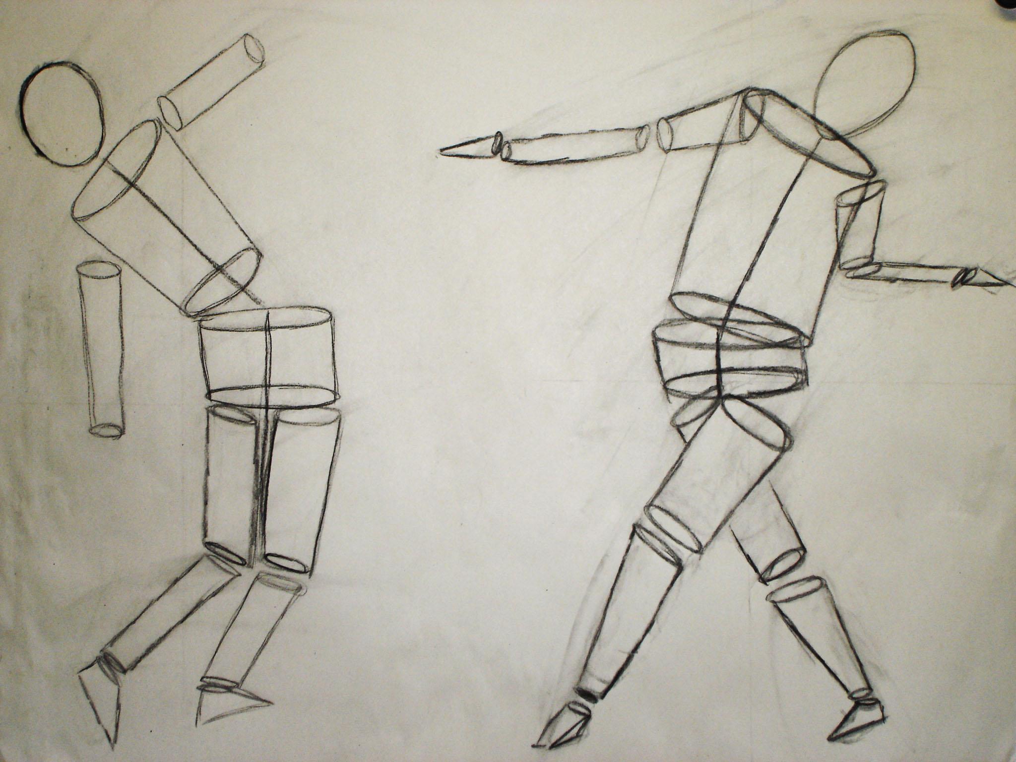 2048x1536 Figure Drawing, Human Form In Basic Shapes Drawingillustrations