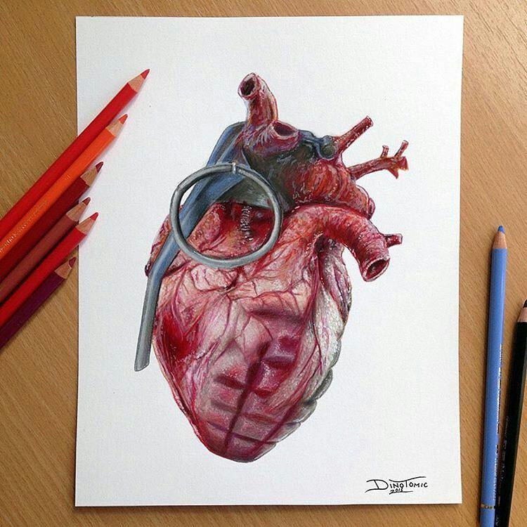 750x750 Motive Art Company Instagram Heart! Colored Pencil