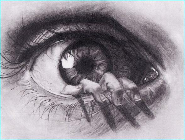 589x447 23 pencil sketch of beautiful human eyes pencil sketch of