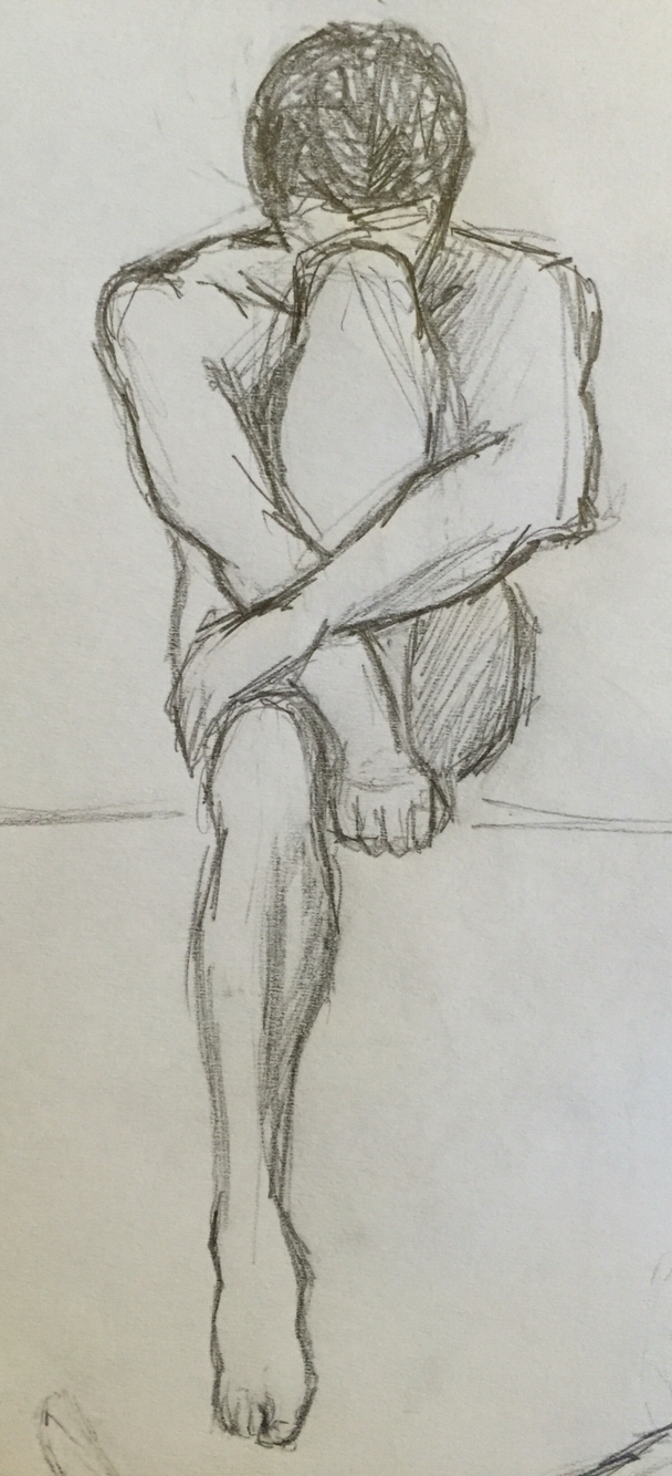 608x1334 By Goldfinch 3 Sketch, Drawing, Pencil, Male, Nake, Body, Muscles