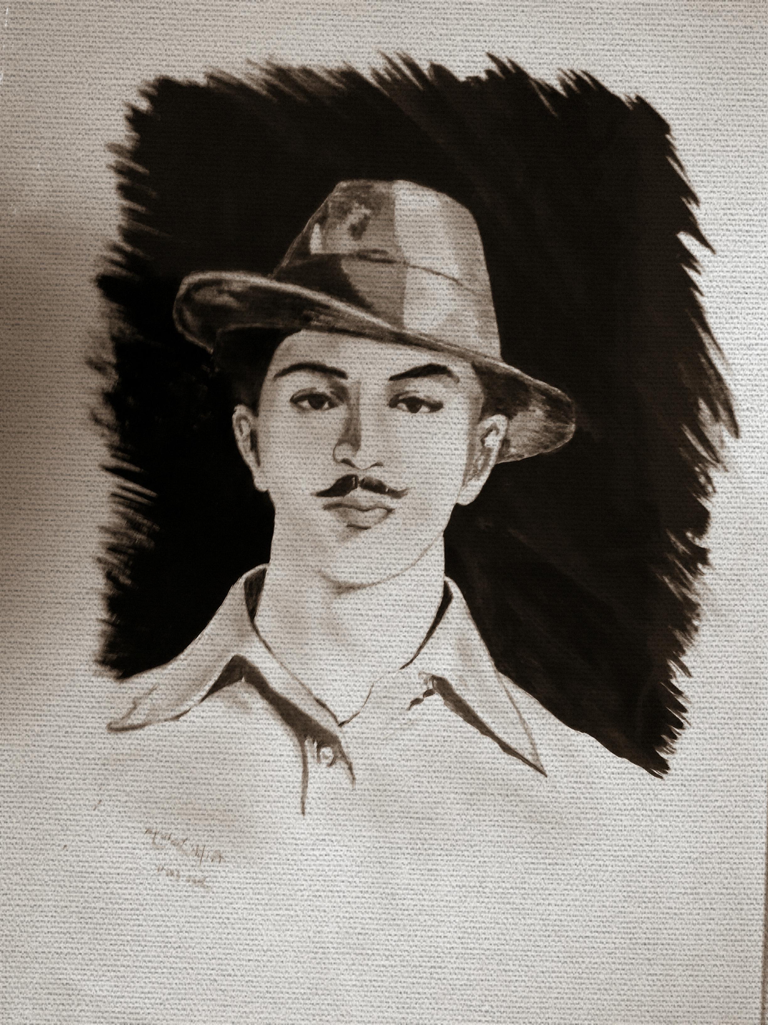 2448x3264 Pencil Sketch Of Bhagat Singh Drawing Bhagat Singh Human Faces