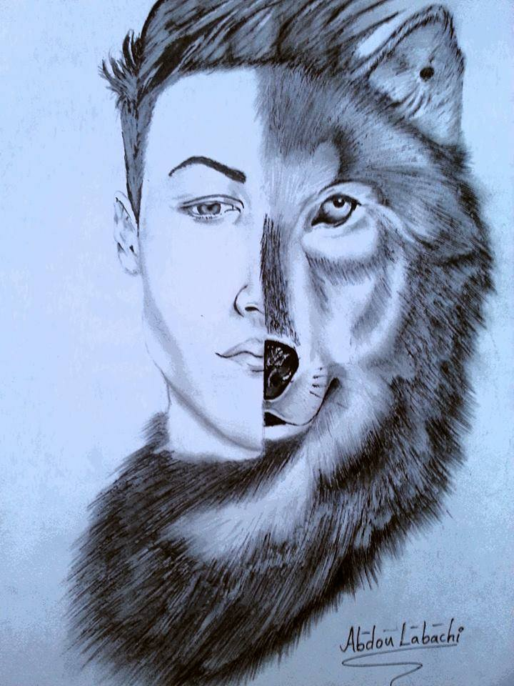 720x960 Pencil Drawing Of Wolf Human Face Steemit