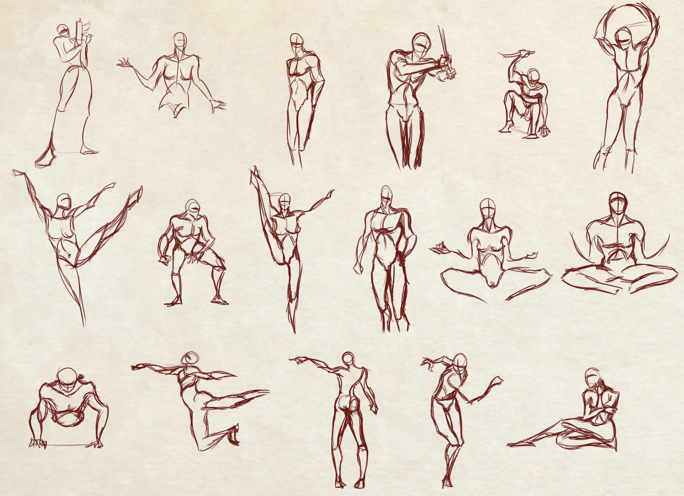 2347x1702 Moar 2 Minutes Poses Speeddrawing Video Included By Dex91