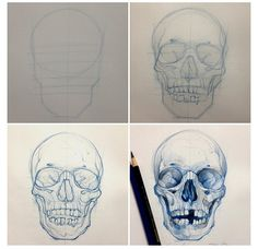 236x228 How To Draw A Human Skull Step By Step. Drawing Tutorials For Kids