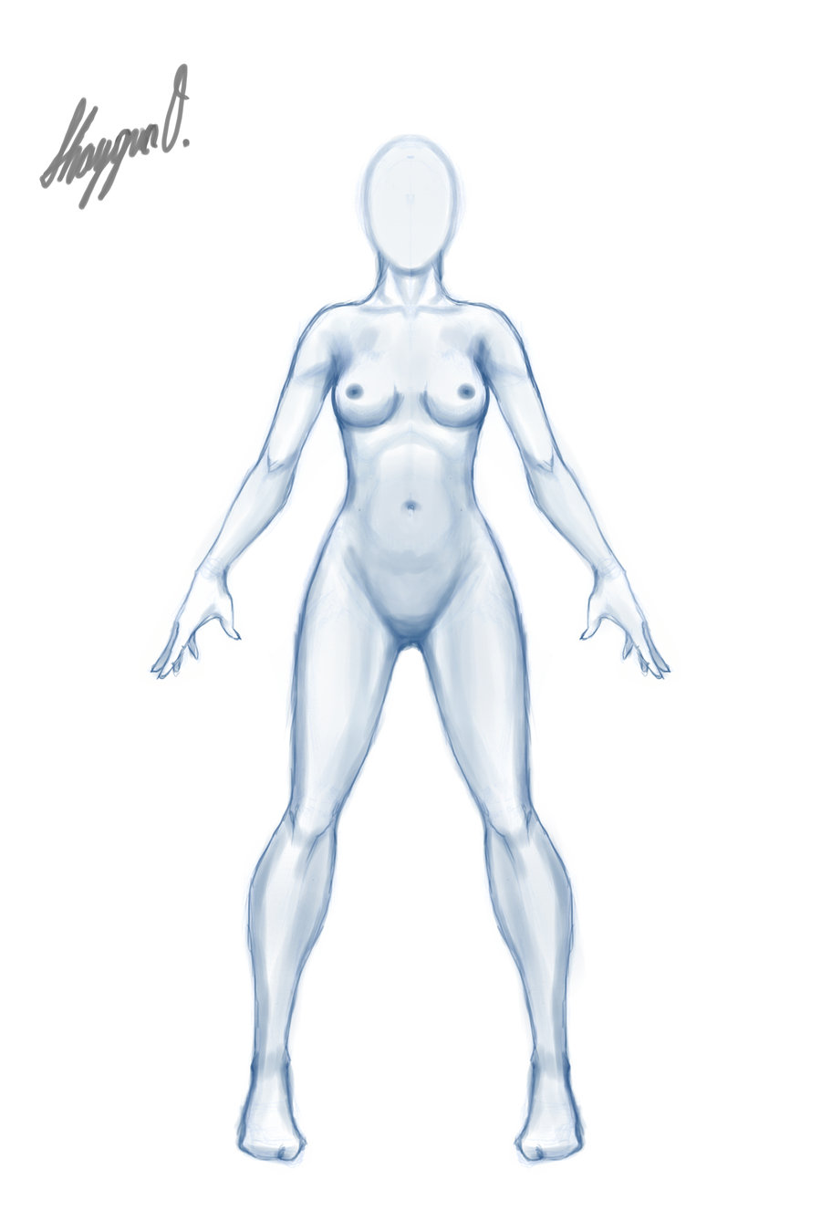 900x1350 Female Anatomy Template Front [Updated] By Shintenzu