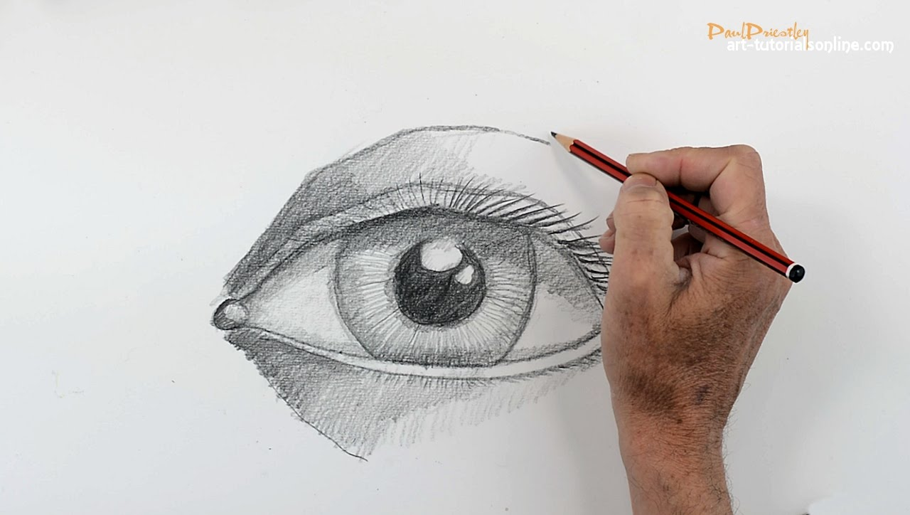 1280x724 How To Draw A Human Eye (Step By Step)