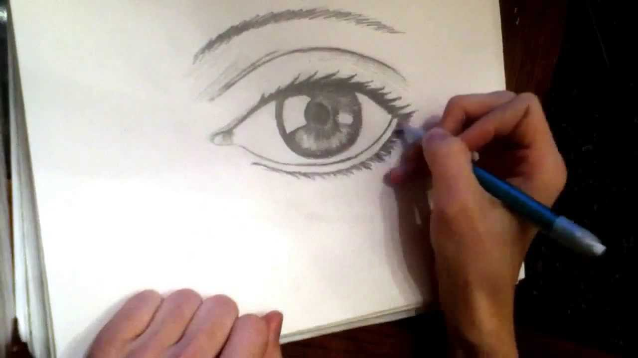1280x720 Human Eye (Speed Drawing)