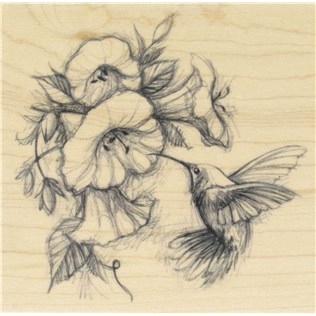 316x316 Hummingbird With Flowers Rubber Stamp Shop Hobby Lobby Tattoos