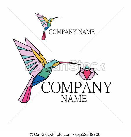 450x470 Logo Hummingbird. For Companies Related To Creativity, Art