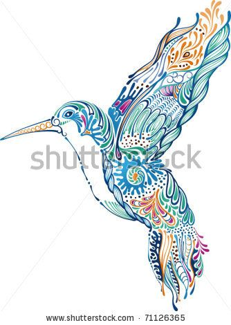 334x470 Hummingbird Drawing Heart Tribal Hummingbird And Hibiscus Tattoo
