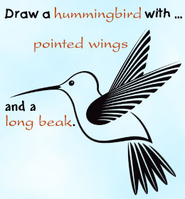 260x280 By Step Instructions To Draw A Hummingbird