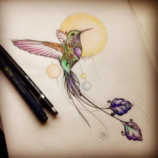 650x650 130 Best Hummingbird Tattoo Designs (April 2018)