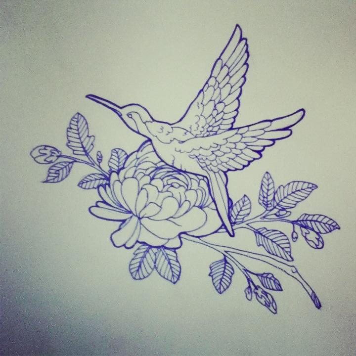 720x720 Hummingbird Tattoo Design By Zombiieunicorn