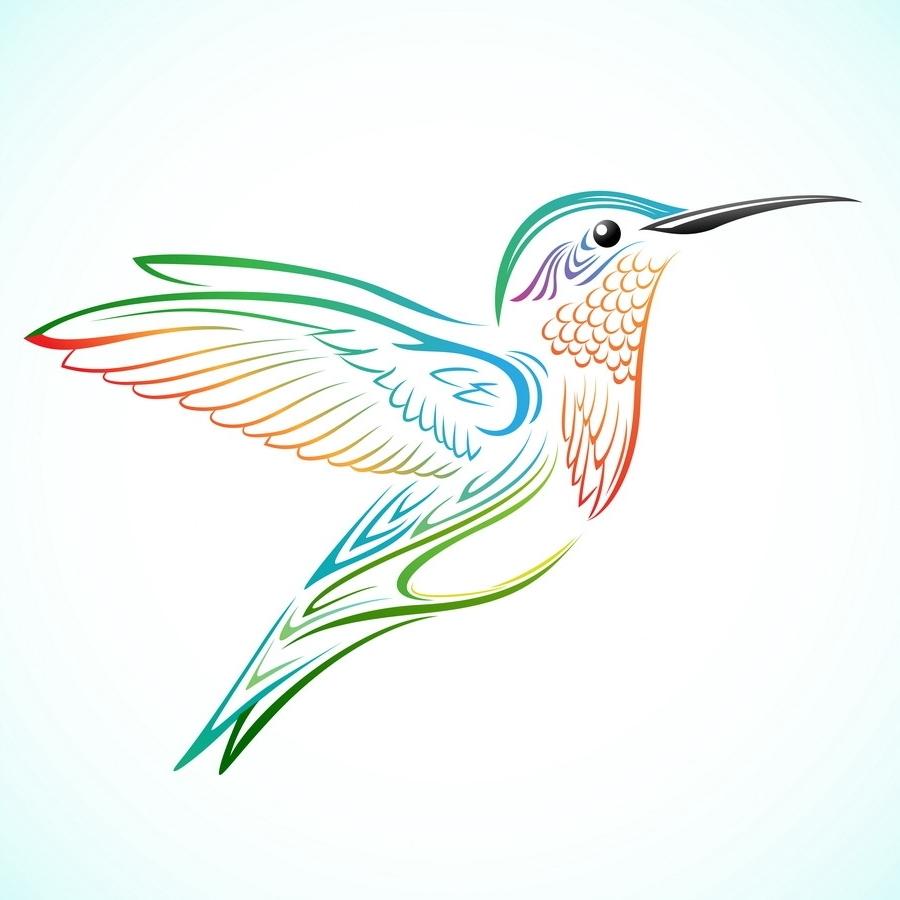 900x900 Tribal Hummingbird Tattoo Designs