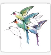 210x230 Hummingbirds Drawing Stickers Redbubble