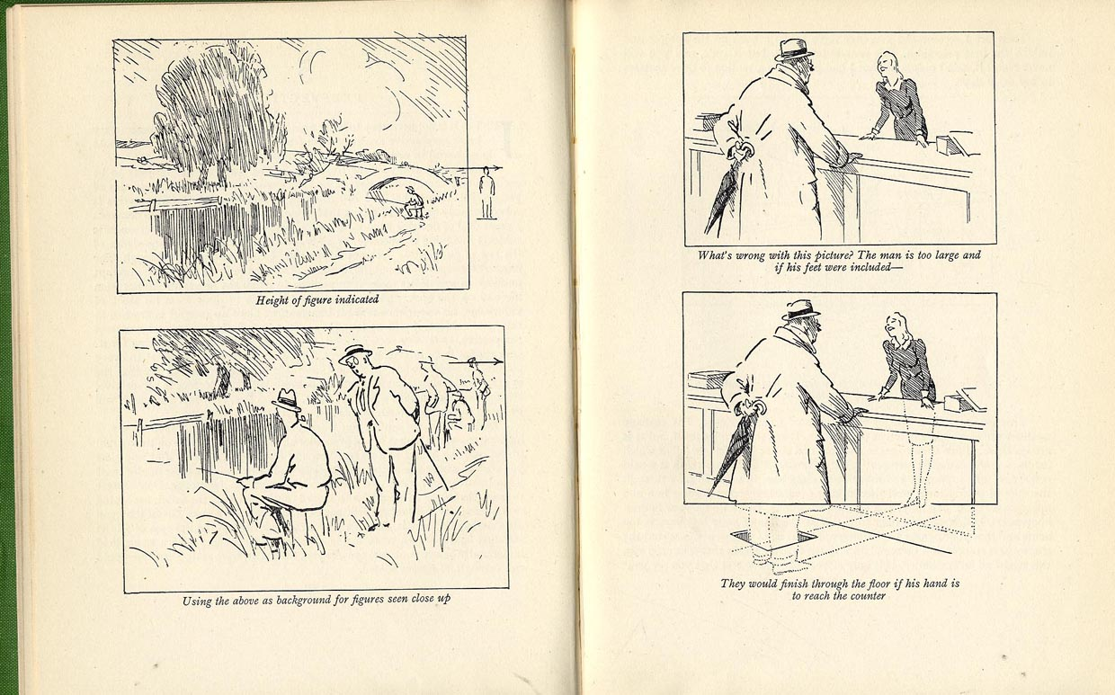1240x773 Artists' Manuals, Frank Reynolds, Humorous Drawing For The Press, 1947