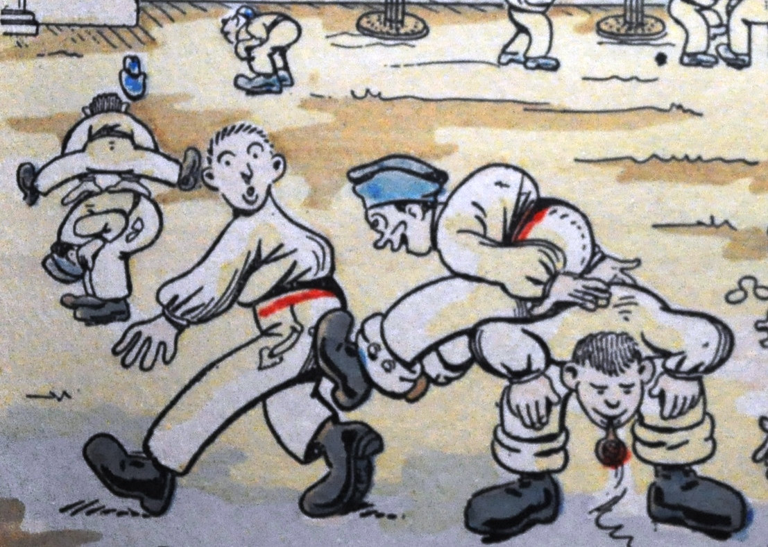 1107x788 Humorous Drawing Cartoon Military Sports, Fly Over