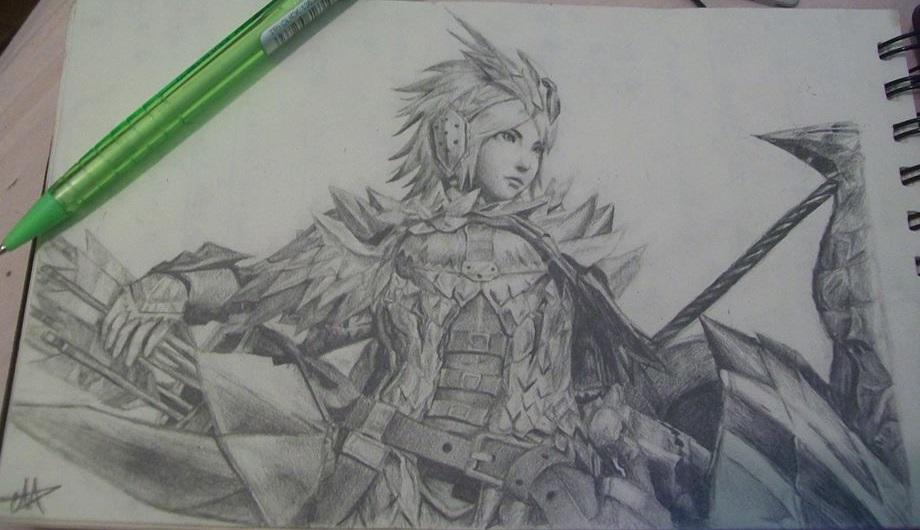 920x530 A Random Monster Hunter Drawing By Luxa Layton