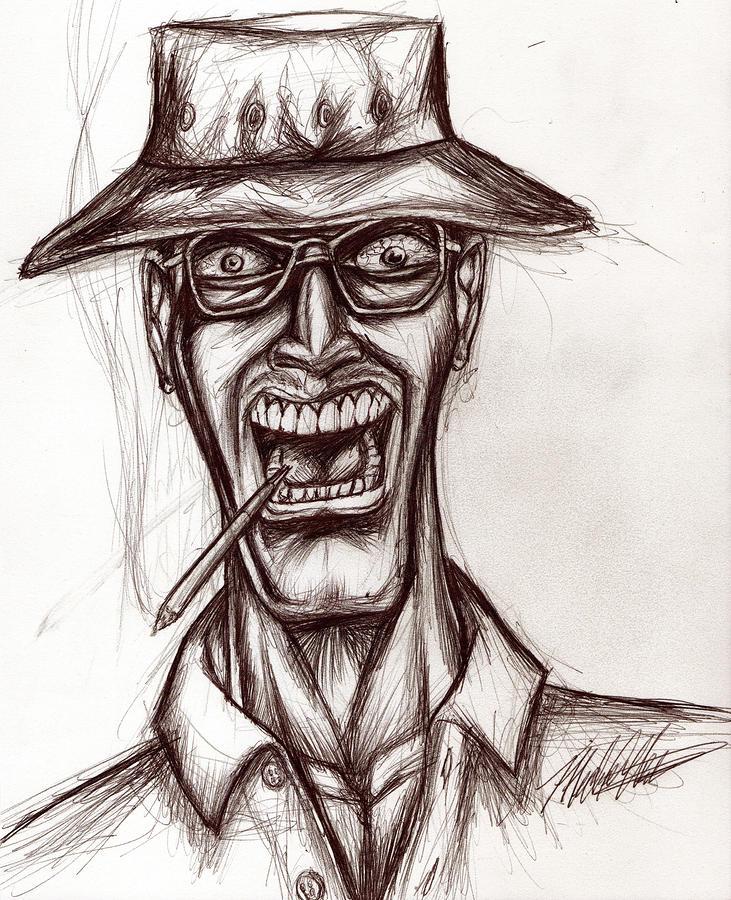 731x900 Hunter S. Thompson Drawing By Michael Mestas