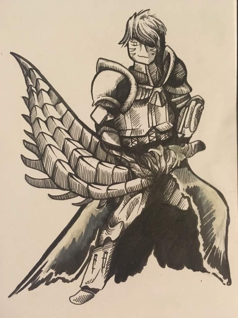 768x1024 Hunter Drawing! Monster Hunter Amino