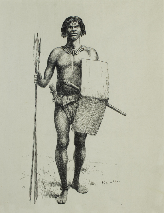 575x750 Pen And Ink Drawing A Slave Hunter. Illustration For E. J.