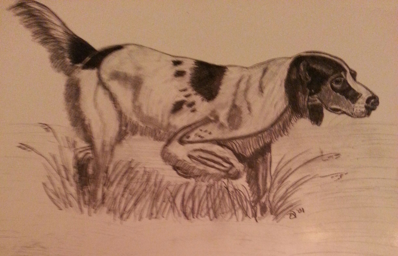 2448x1579 Hunting Is An Original Pencil Drawing By Artist Teri A. Davis
