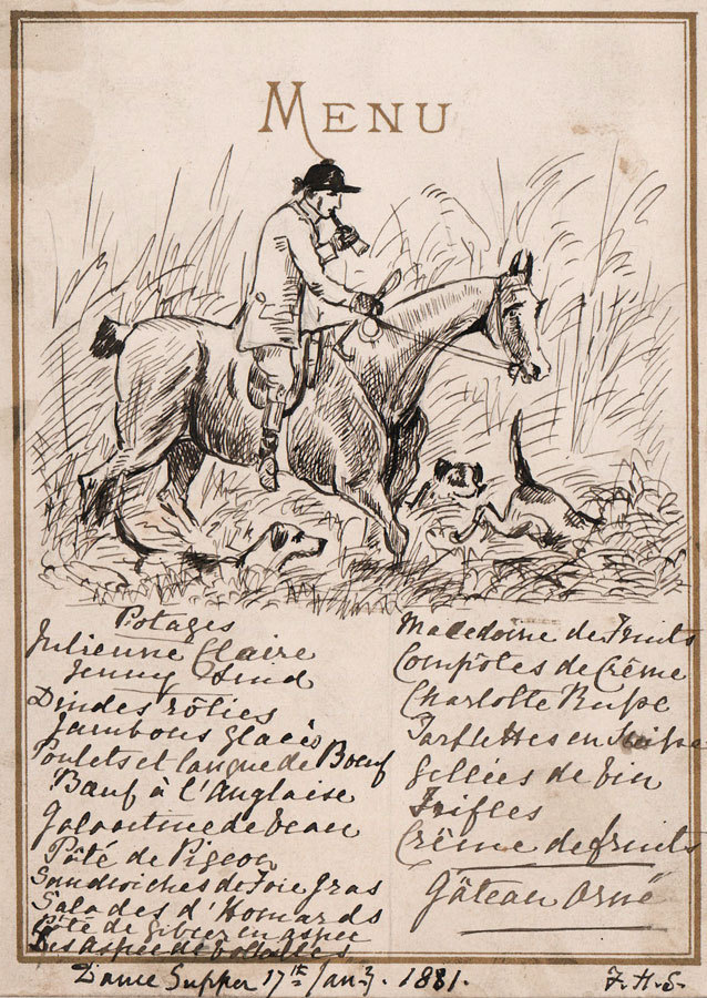 638x900 Interesting 1881 Pen And Ink Drawing Fox Hunting Illustration