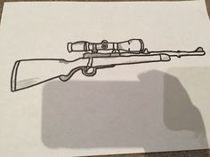 236x177 Good Drawing Of A Hunting Rifle Crafts Hunting