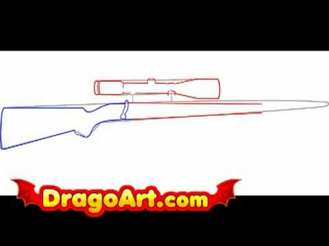 480x360 How To Draw A Rifle, Step By Step