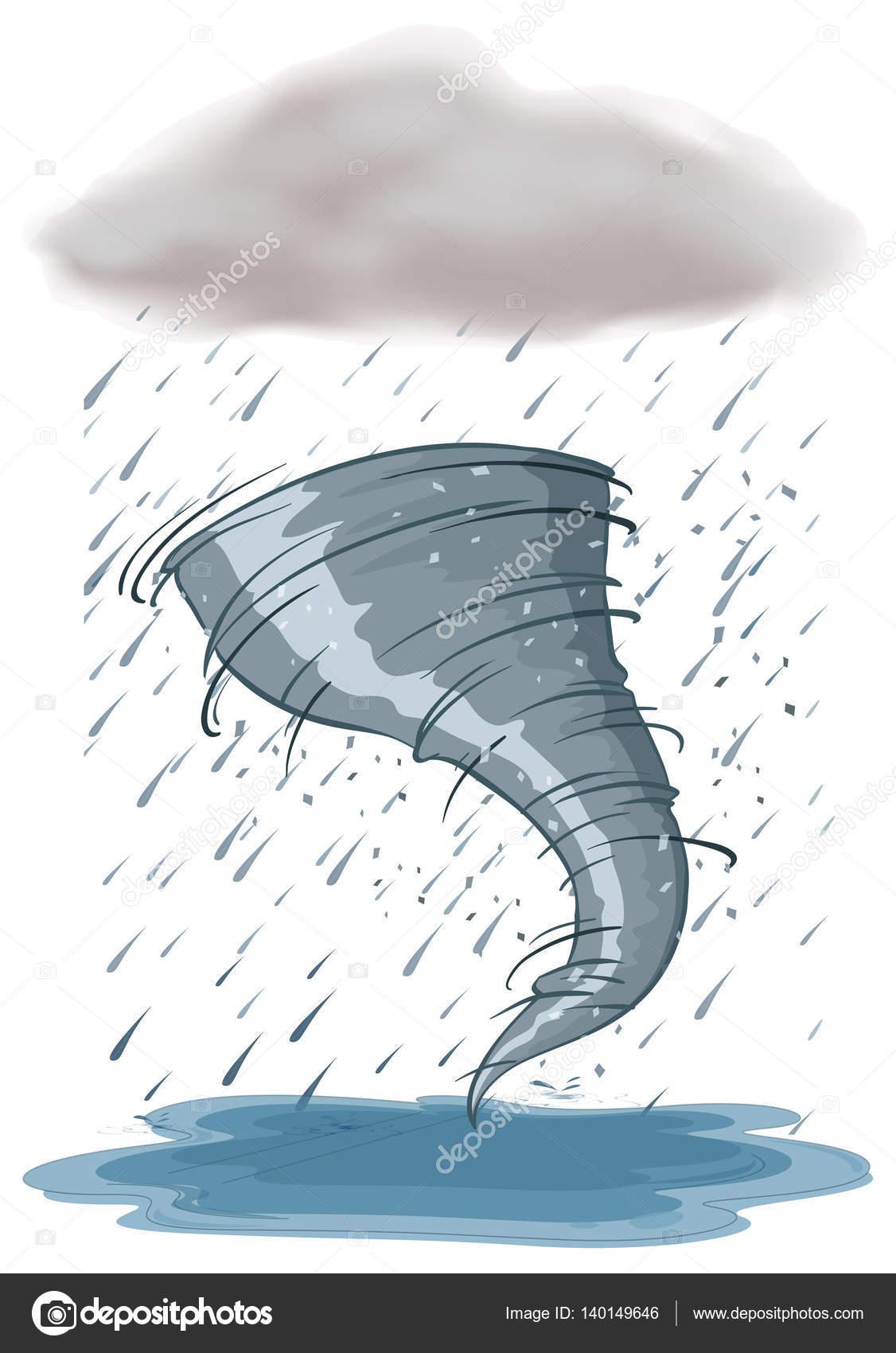 1126x1700 Hurricane And Rainstorm On White Background Stock Vector