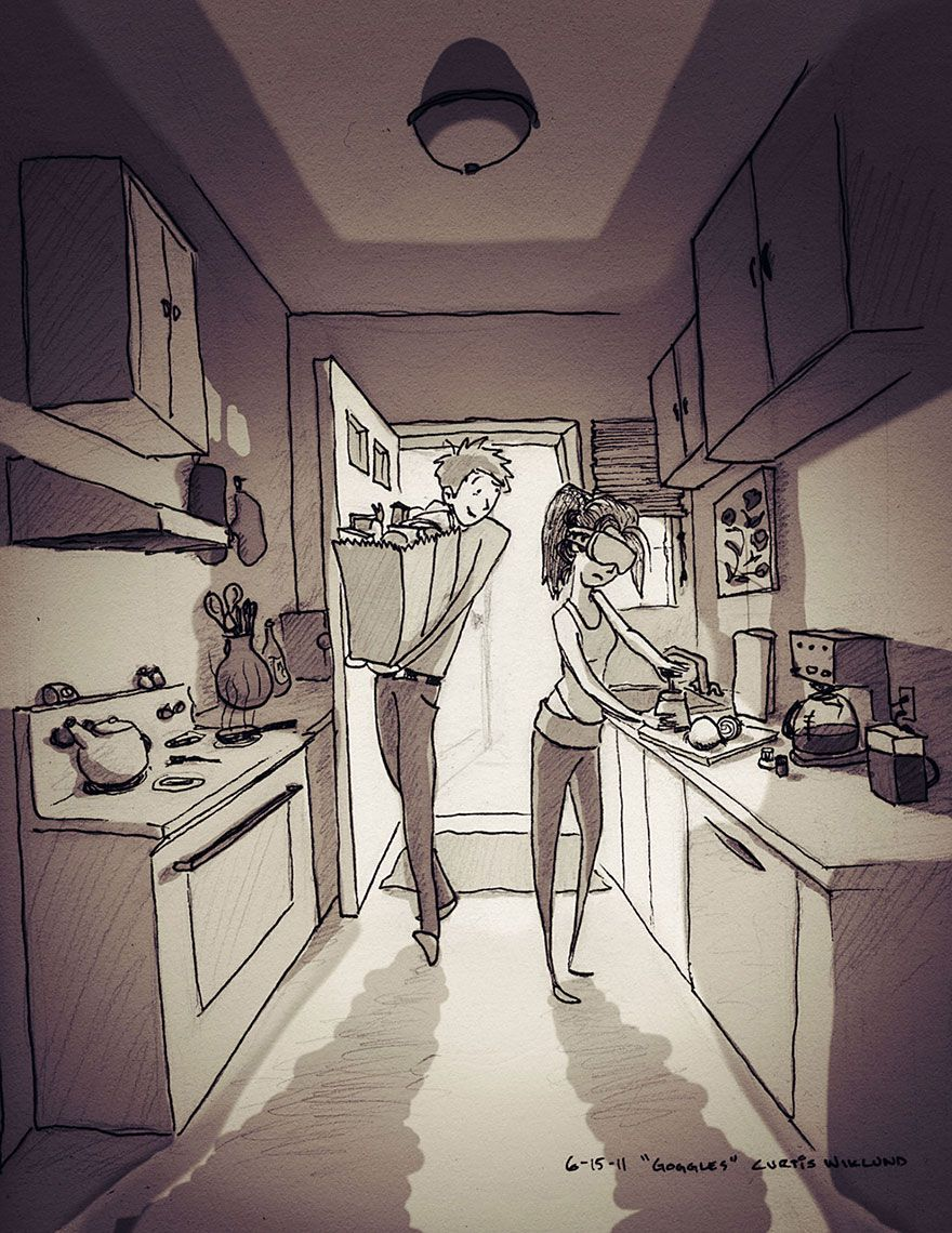 880x1140 Husband Illustrated Every Single Day He Spent With His Beloved