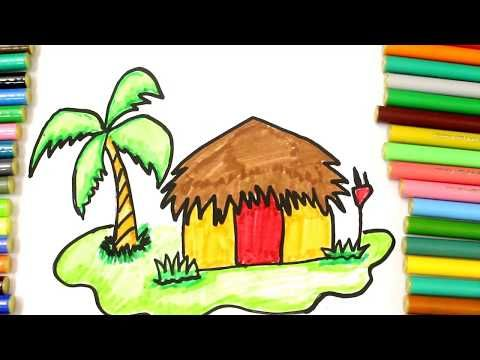 480x360 Coloring Hut, House Coloring Pages For Kids, Learn Types Of Houses