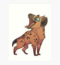 210x230 Cute Hyena Drawing Art Prints Redbubble