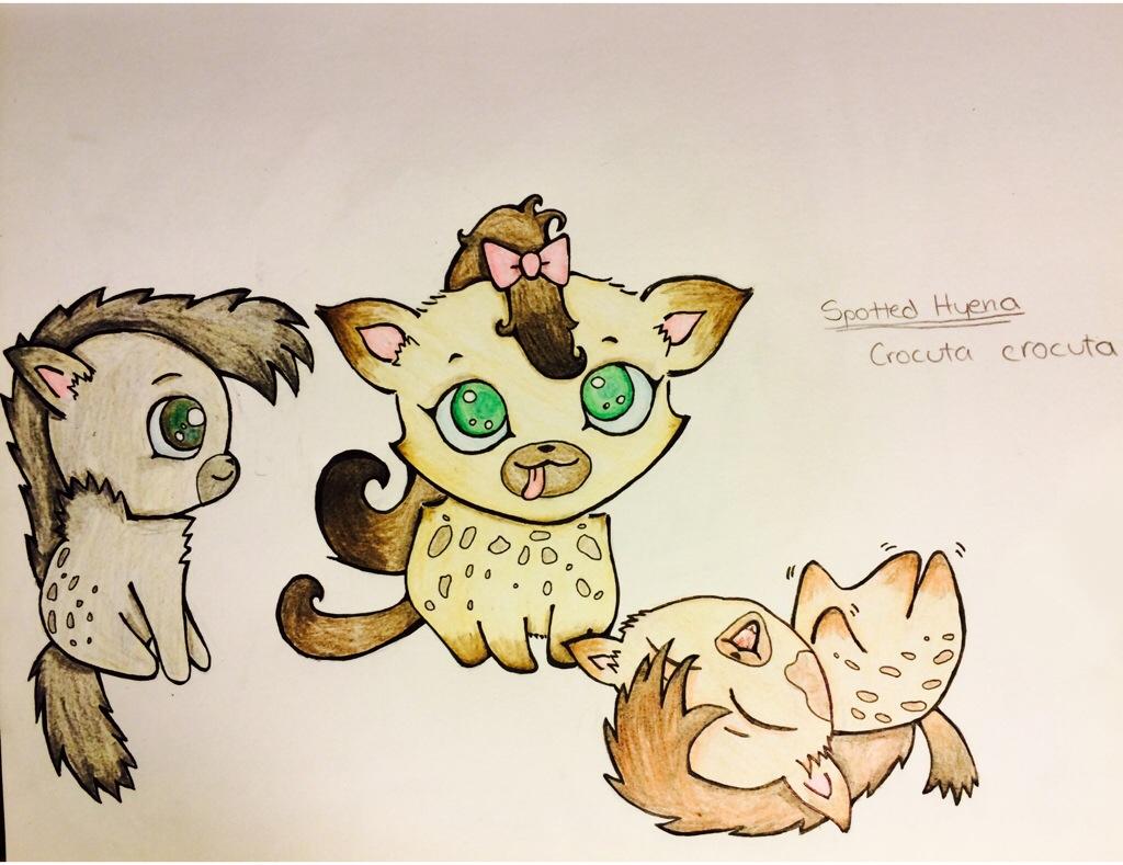 1024x789 How To Draw A Cute Cartoon Hyena Drawing Animals