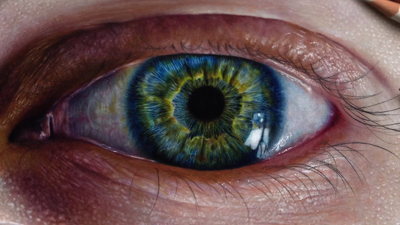 1280x720 How To Draw A Realistic Eye (Iris) Colored Pencils