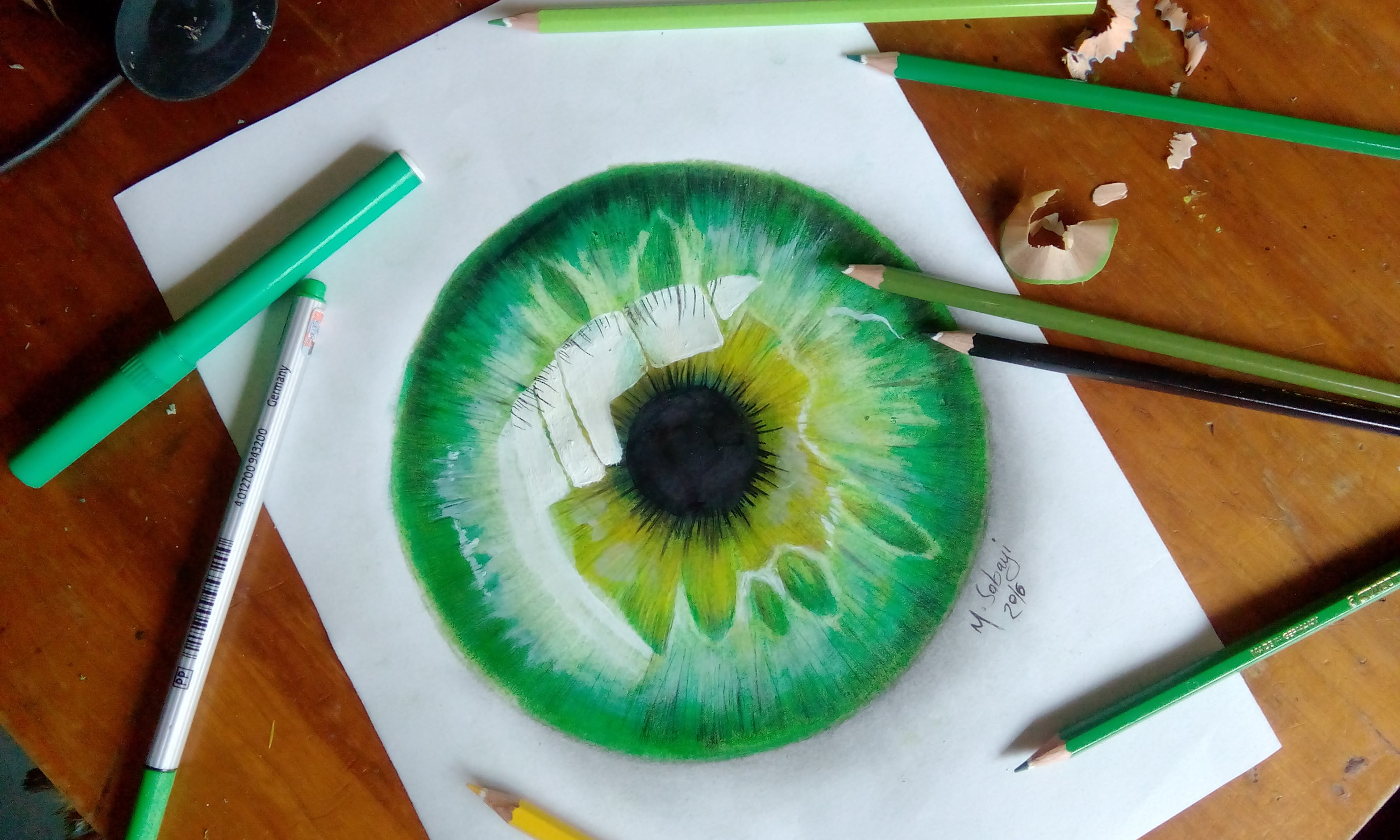 3600x2160 How To Draw A Hyper Realistic Eye Jacksepticeye Speed Drawing